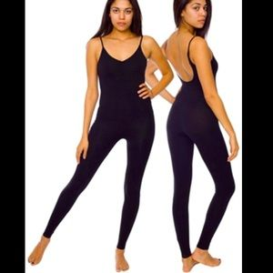 American Apparel Black Unitard